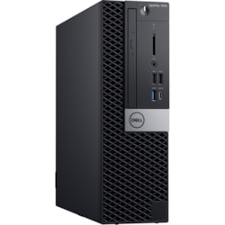 Dell OptiPlex 7000 7070 Desktop Computer - Intel Core i5 9th Gen i5-9500 Hexa-core (6 Core) 3 GHz - 8 GB RAM DDR4 SDRAM - 256 GB SSD - Micro PC