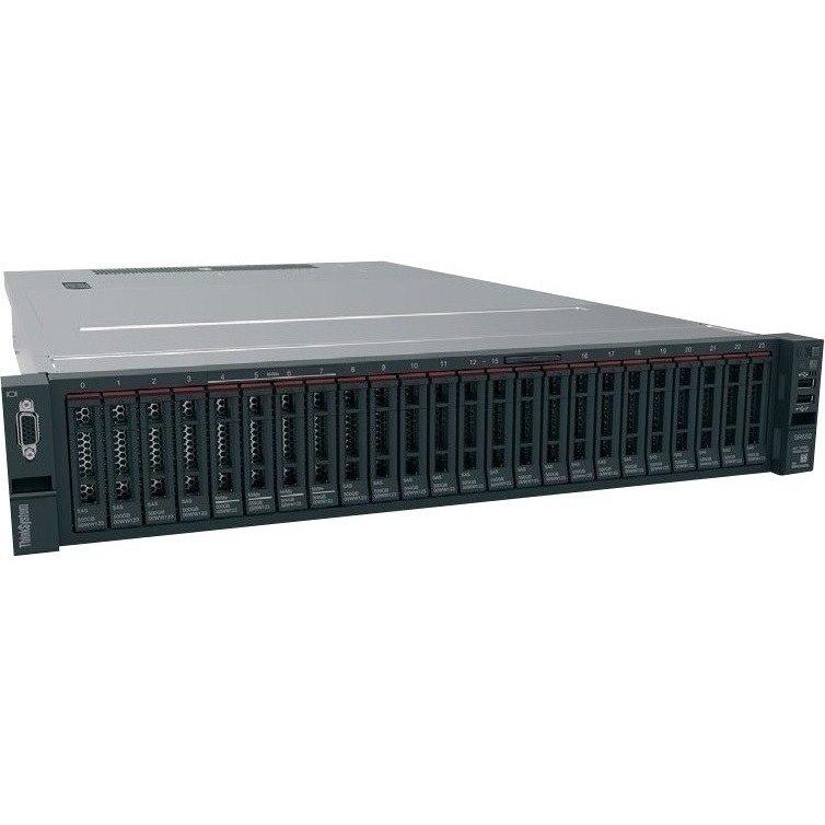 Lenovo ThinkSystem SR650 7X06A0EWAU 2U Rack Server - Intel C624 SoC - 1 x Intel Xeon Bronze 3204 1.90 GHz - 16 GB RAM - 12Gb/s SAS, Serial ATA/600 Controller