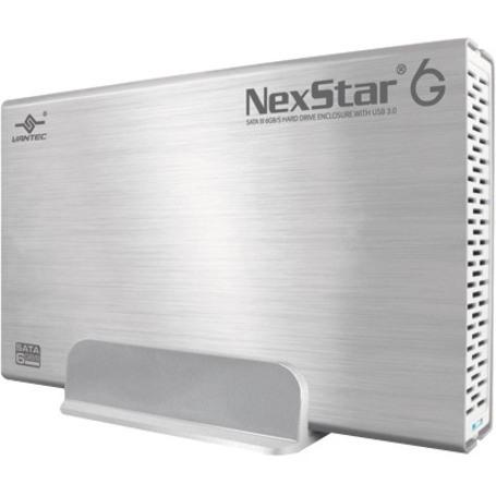 Vantec NexStar 6G NST-366S3-SV Drive Enclosure - USB 3.0 Host Interface External - Silver