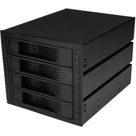 "StarTech.com Drive Enclosure for 5.25"" SATA/600, Serial Attached SCSI (SAS) - 6Gb/s SAS, Serial ATA/600 Host Interface Internal - Black"