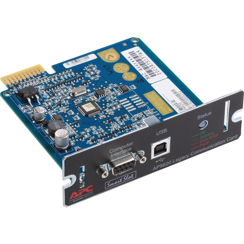 APC by Schneider Electric SmartSlot AP9620 Management Module - 1 x USB 2.0, 1 x DB-9 Serial
