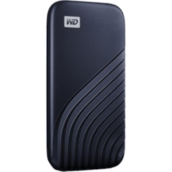WD My Passport WDBAGF0010BBL-WESN 1 TB Portable Solid State Drive - External - Midnight Blue