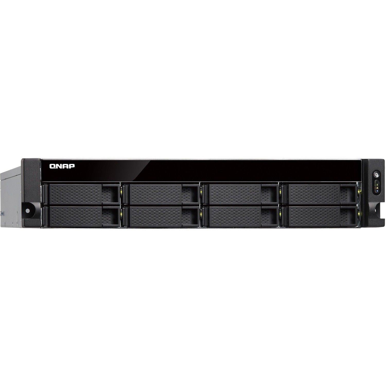 QNAP TS-883XU-RP-E2124-8G 16 x Total Bays SAN/NAS Storage System - 4 GB Flash Memory Capacity - Intel Xeon Quad-core (4 Core) 3.30 GHz - 8 GB RAM - DDR4 SDRAM - 2U Rack-mountable