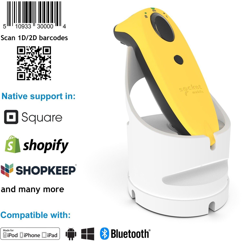 Socket Mobile SocketScan S740 Handheld Barcode Scanner - Wireless Connectivity - Yellow, White