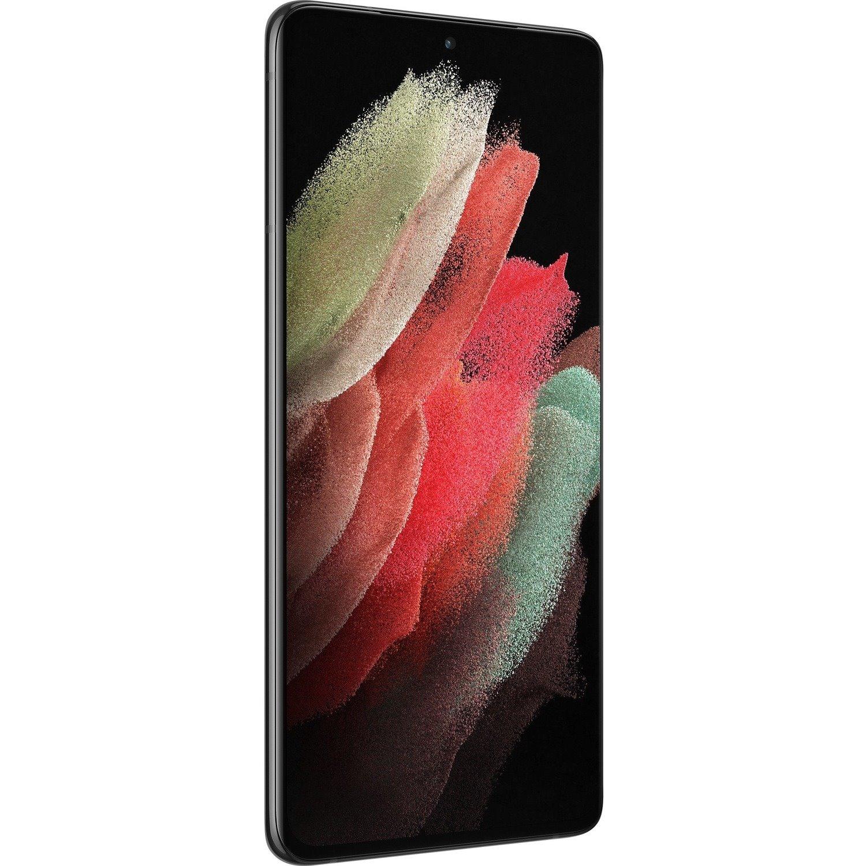 "Samsung Galaxy S21 Ultra 5G SM-G998B 128 GB Smartphone - 17.3 cm (6.8"") Dynamic AMOLED QHD+ 3200 x 1440 - Cortex X1Single-core (1 Core) 2.90 GHz + Cortex A78 Triple-core (3 Core) 2.80 GHz + Cortex A55 Quad-core (4 Core) 2.20 GHz) - 12 GB RAM - Android 11 - 5G - Phantom Black"