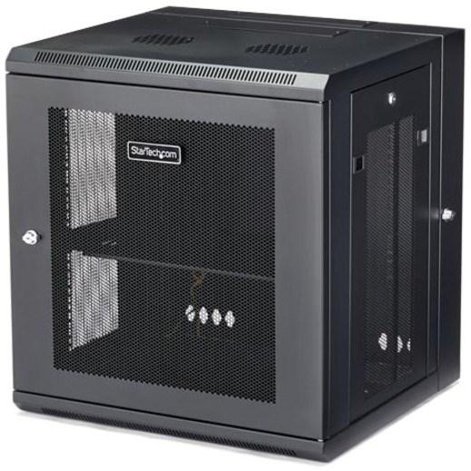 StarTech.com 12U Wall Mountable Rack Cabinet for Server, LAN Switch, Patch Panel431.80 mm Rack Depth - Black