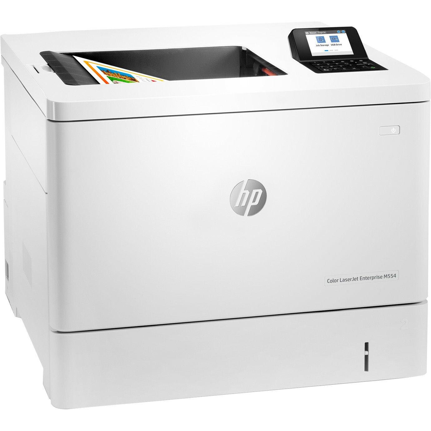 HP LaserJet Enterprise M554 M554dn Desktop Laser Printer - Colour