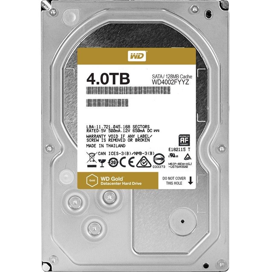 WD Gold 4TB high-capacity datacenter hard drive