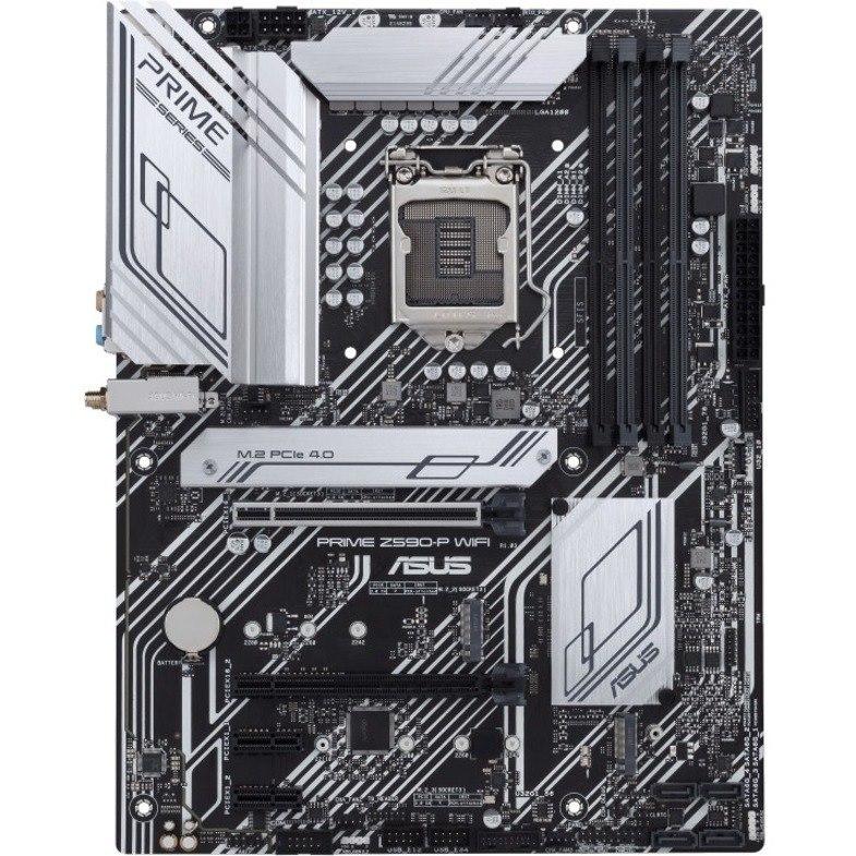 Asus Prime Z590-P WIFI Desktop Motherboard - Intel Chipset - Socket LGA-1200 - Intel Optane Memory Ready - ATX