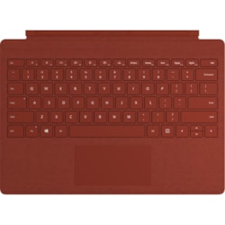 Microsoft Signature Type Cover Keyboard/Cover Case Microsoft Surface Pro (5th Gen), Surface Pro 3, Surface Pro 4, Surface Pro 6, Surface Pro 7 Tablet - Poppy Red