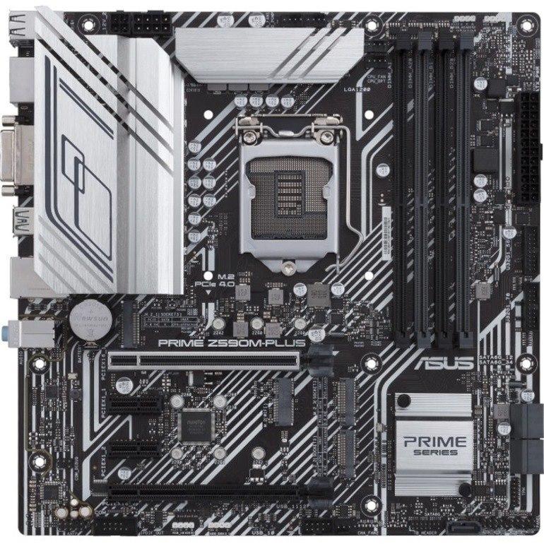 Asus Prime Z590M-PLUS Desktop Motherboard - Intel Chipset - Socket LGA-1200 - Intel Optane Memory Ready - Micro ATX