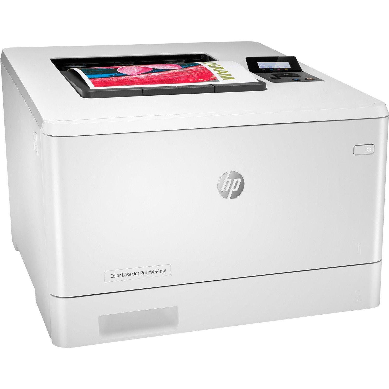 HP LaserJet Pro M454 M454nw Desktop Laser Printer - Colour