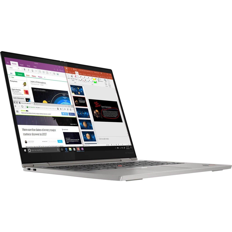 "Lenovo ThinkPad X1 Titanium Yoga Gen 1 20QA0017AU 34.3 cm (13.5"") Touchscreen 2 in 1 Notebook - Intel Core i5 i5-1130G7 Quad-core (4 Core) 1.80 GHz - 16 GB RAM - 512 GB SSD - Titanium"