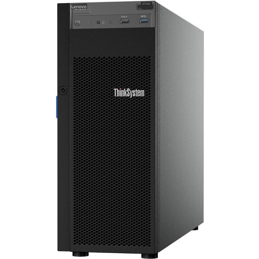Lenovo ThinkSystem ST250 7Y46A019NA 4U Tower Server - 1 x Intel Xeon E-2136 3.30 GHz - 8 GB RAM - Serial ATA/600 Controller