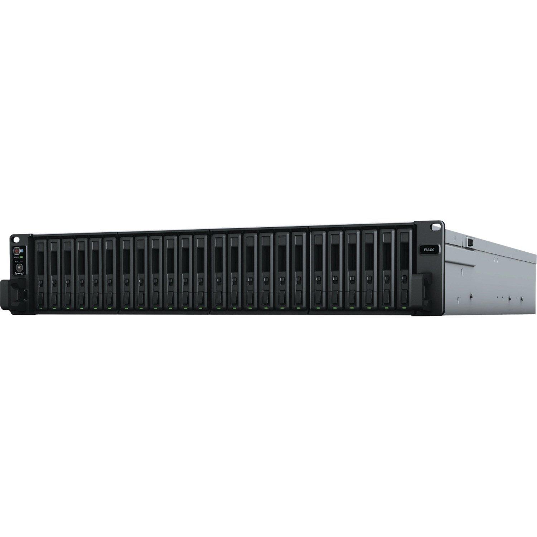 Synology FlashStation FS3400 24 x Total Bays SAN/NAS Storage System - Intel Xeon Octa-core (8 Core) 2.10 GHz - 16 GB RAM - DDR4 SDRAM - 2U Rack-mountable