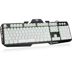 IOGEAR Kaliber Gaming Keyboard - Cable Connectivity - USB 2.0 Interface - English, French - QWERTY Layout - Imperial White