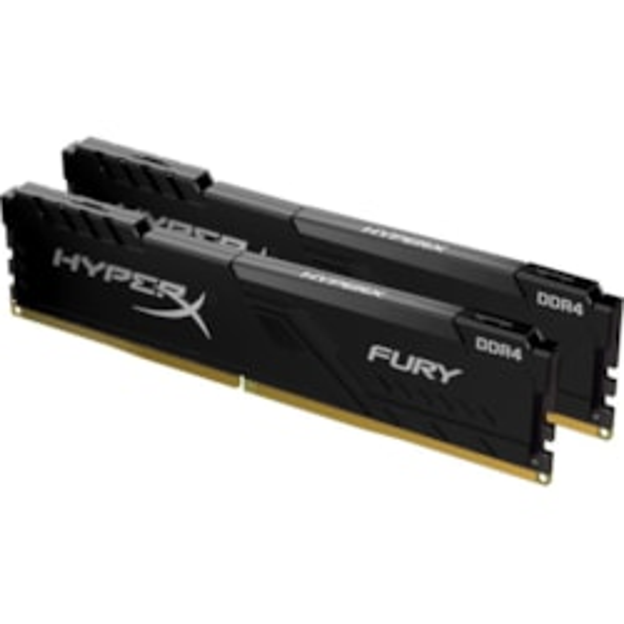 HyperX FURY RAM Module for Desktop PC, Workstation - 32 GB (2 x 16 GB) - DDR4-2666/PC4-21333 DDR4 SDRAM - 2666 MHz - CL16 - 1.20 V