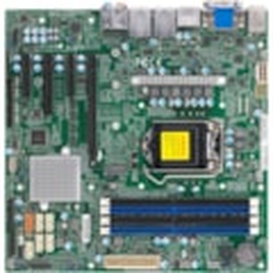 Supermicro X12SCQ Desktop Motherboard - Intel Chipset - Socket LGA-1200 - Micro ATX