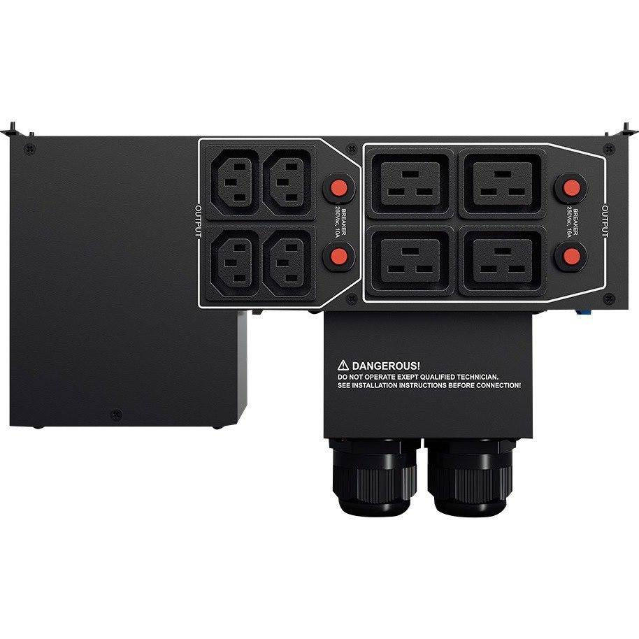 CyberPower  PDU - Maintenance Bypass - 4 x IEC 60320 C19, 4 x IEC 60320 C13, 1 x Hardwire Terminal Block - 60 A - 230 V AC Input - 2U - Rack-mountable