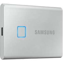 Samsung T7 MU-PC1T0S/WW 1 TB Portable Solid State Drive - External - PCI Express NVMe - Silver
