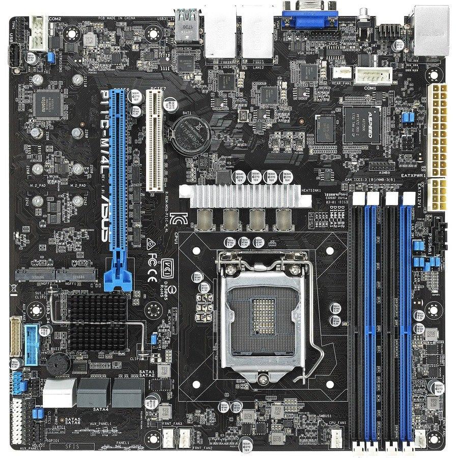 Asus P11C-M/4L Server Motherboard - Intel Chipset - Socket H4 LGA-1151 - Micro ATX
