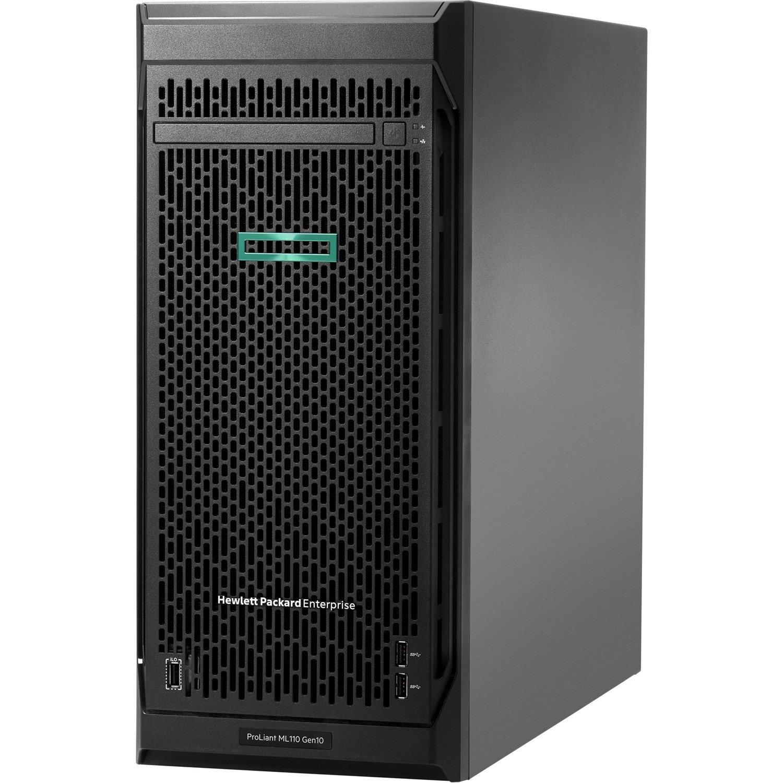 HPE ProLiant ML110 G10 4.5U Tower Server - 1 x Intel Xeon Silver 4208 2.10 GHz - 16 GB RAM HDD SSD - Serial ATA/600 Controller