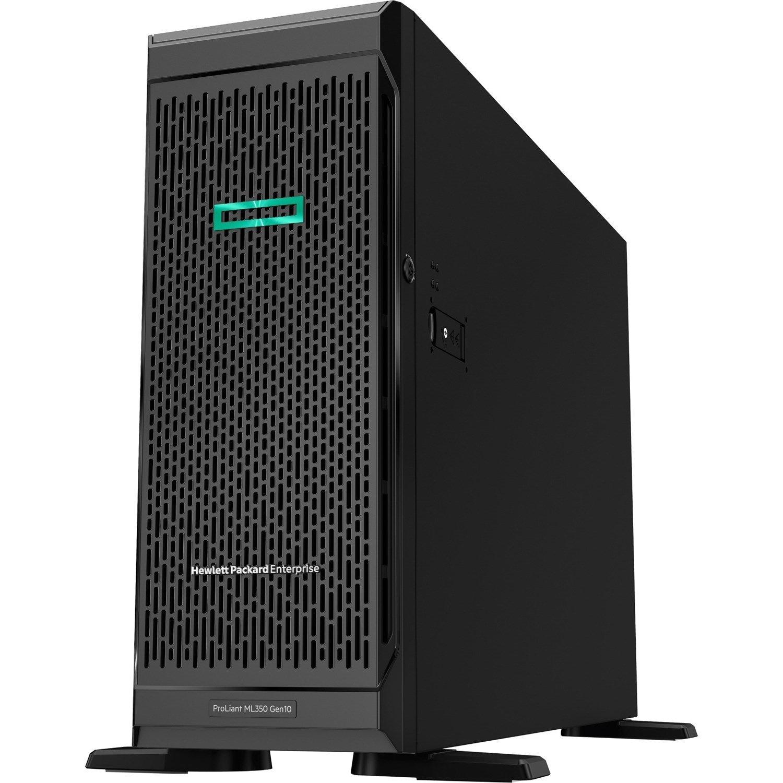 HPE ProLiant ML350 G10 4U Tower Server - 1 x Intel Xeon Silver 4210R 2.40 GHz - 16 GB RAM HDD SSD - Serial ATA/600, 12Gb/s SAS Controller