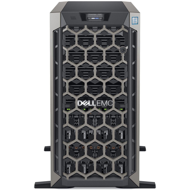 Dell EMC PowerEdge T640 5U Tower Server - 1 x Intel Xeon Silver 4208 2.10 GHz - 16 GB RAM - 600 GB (2 x 300 GB) HDD - Serial Attached SCSI (SAS), 12Gb/s SAS Controller