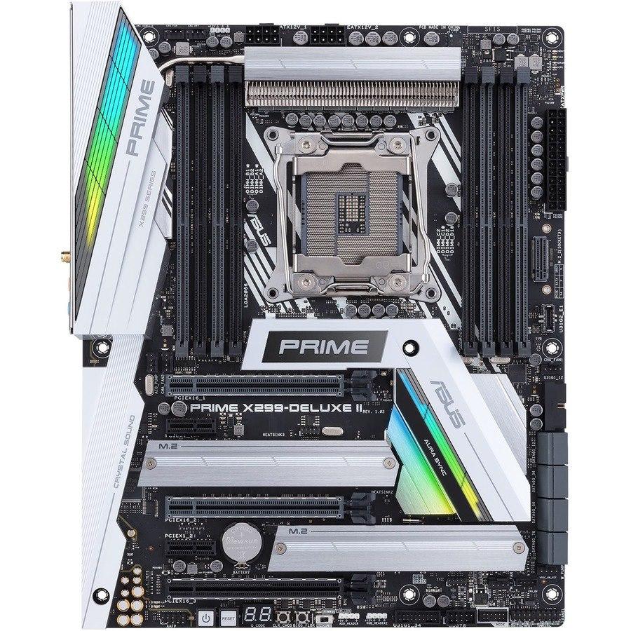 Asus Prime X299-DELUXE II Desktop Motherboard - Intel Chipset - Socket R4 LGA-2066 - Intel Optane Memory Ready - ATX