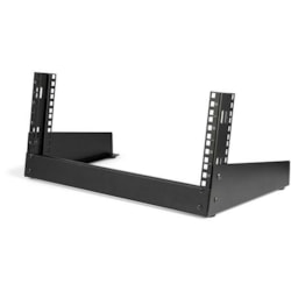 StarTech.com 4U Floor Standing Rack Frame for A/V Equipment, LAN Switch, Patch Panel, Server - Black - TAA Compliant