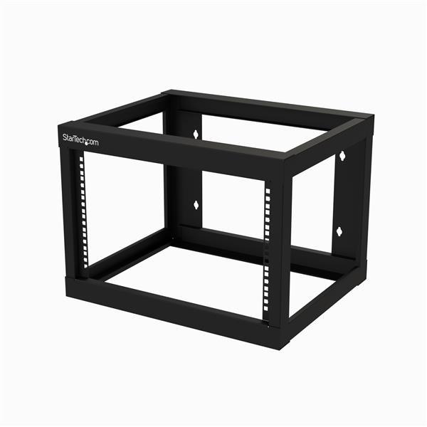 StarTech.com 6U Wall Mountable Rack Frame for Server, LAN Switch, Patch Panel, A/V Equipment - 482.60 mm Rack Width x 457.20 mm Rack Depth - Black