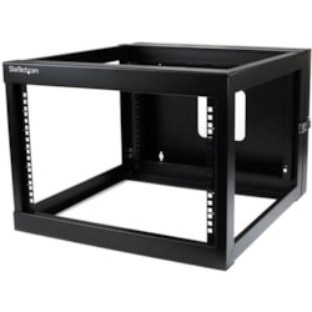 StarTech.com 6U Wall Mountable Rack Frame - 482.60 mm Rack Width - Black - TAA Compliant