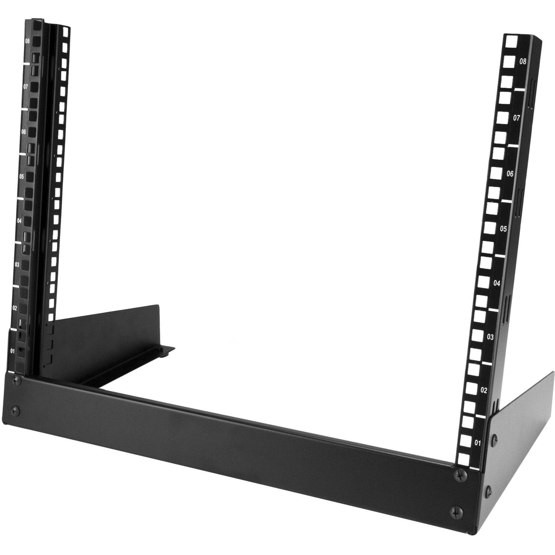 StarTech.com 8U Tabletop Rack Frame for A/V Equipment, Server - 482.60 mm Rack Width - Black - TAA Compliant