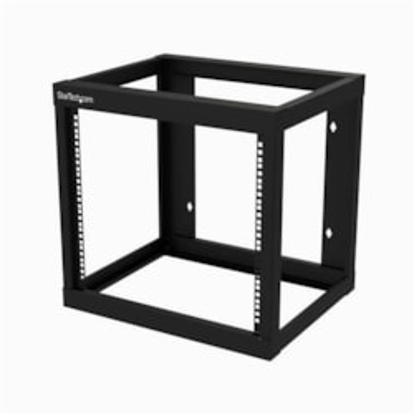 StarTech.com 9U Wall Mountable Rack Frame for Server, LAN Switch, Patch Panel, A/V Equipment - 482.60 mm Rack Width - Black