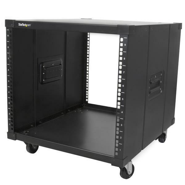 StarTech.com 9U Floor Standing Rack Cabinet for Server, LAN Switch, Patch Panel - 482.60 mm Rack Width x 584.20 mm Rack Depth - Black - TAA Compliant