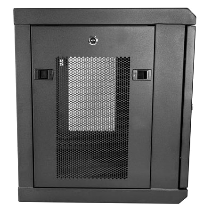 StarTech.com 9U Wall Mountable Rack Cabinet for Server, LAN Switch, Patch Panel370.84 mm Rack Depth - Black