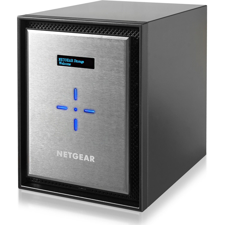 Netgear ReadyNAS RN526X 6 x Total Bays SAN/NAS Storage System - Intel Pentium Dual-core (2 Core) 2.20 GHz - 4 GB RAM - DDR4 SDRAM Desktop