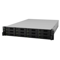 "Synology RackStation RS2418RP+ 12-Bay 3.5"" Diskless 4xGbE NAS (2U Rack) (SMB), Intel Atom 2.1GHz, 4GB RAM, 2xUSB3, Scalable - With SRS - 3 year WTY"