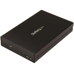 StarTech.com Drive Enclosure - USB 3.1 Micro-B Host Interface - UASP Support External - Black
