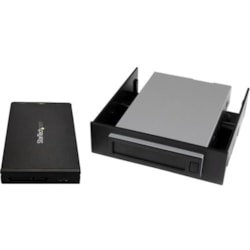"StarTech.com Drive Enclosure for 3.5"" , 5.25"" - USB 3.1 Micro-B Host Interface - UASP Support Internal/External - Black"