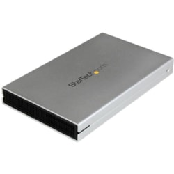 StarTech.com Drive Enclosure - USB 3.0 Type B, eSATAp Host Interface - UASP Support External - Silver