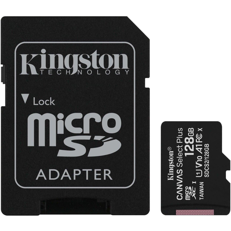 Kingston Canvas Select Plus 128 GB Class 10/UHS-I (U1) microSDXC - 1 Pack