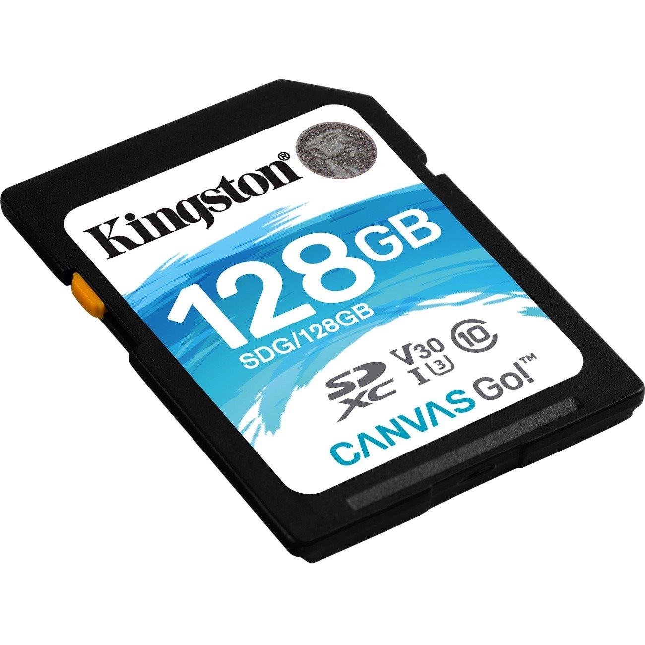 Kingston Canvas Go! 128 GB Class 10/UHS-I (U3) SDXC