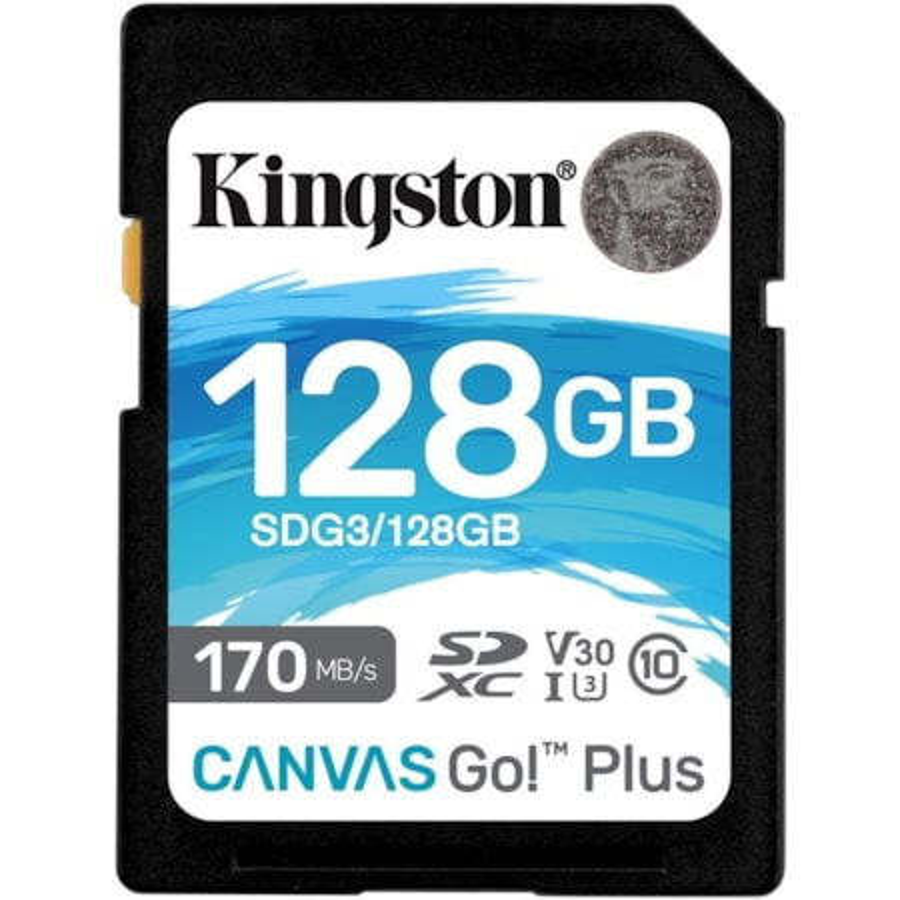 Kingston Canvas Go! Plus 128 GB Class 10/UHS-I (U3) SDXC