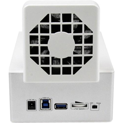 StarTech.com Drive Dock - USB 3.0 Type A, USB 3.0 Type B Host Interface - UASP Support External - White, Silver