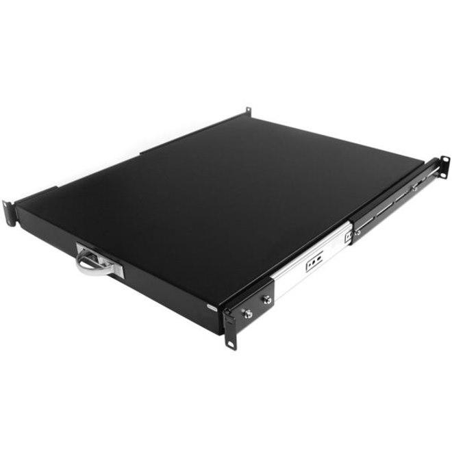 StarTech.com 1U Rack-mountable Rack Shelf for Server - Black - TAA Compliant