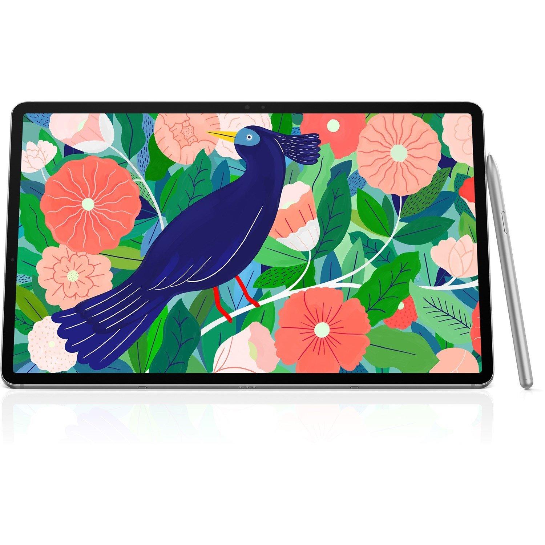 "Samsung Galaxy Tab S7 SM-T870 Tablet - 27.9 cm (11"") WQXGA - 6 GB RAM - 128 GB Storage - Android 10 - Mystic Silver"