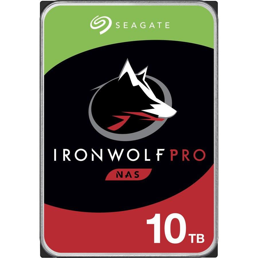 "Seagate IronWolf Pro ST10000NE0008 10 TB Hard Drive - 3.5"" Internal - SATA (SATA/600) - Conventional Magnetic Recording (CMR) Method"