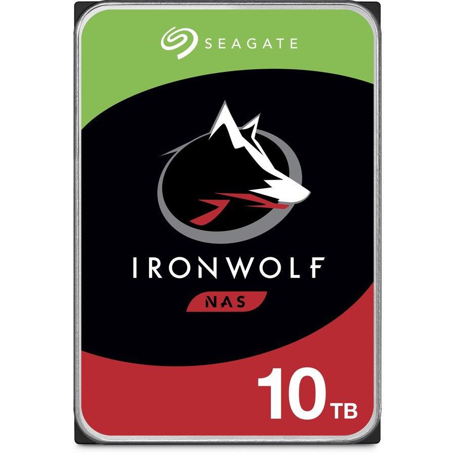 "Seagate IronWolf ST10000VN0008 10 TB Hard Drive - 3.5"" Internal - SATA (SATA/600) - Conventional Magnetic Recording (CMR) Method"
