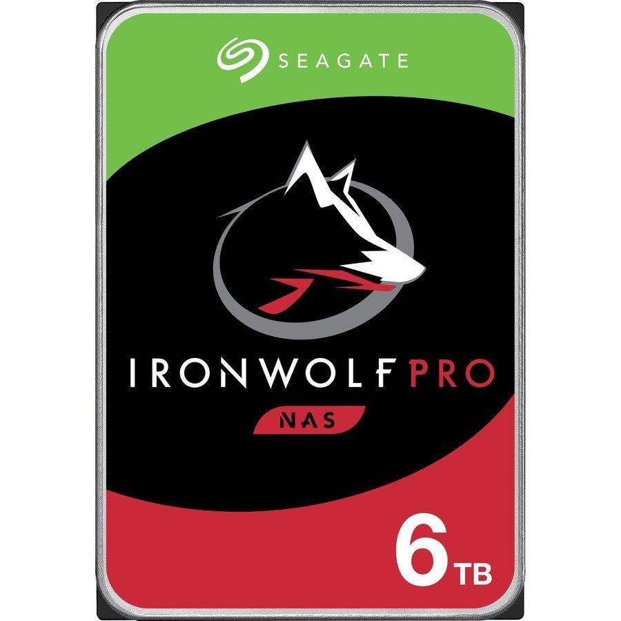 "Seagate IronWolf Pro ST6000NE000 6 TB Hard Drive - 3.5"" Internal - SATA (SATA/600) - Conventional Magnetic Recording (CMR) Method"